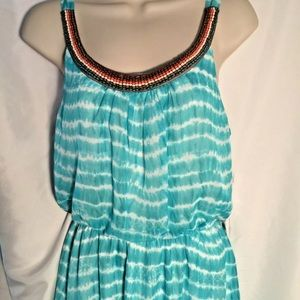 Trixxi Summer Dress Size Small Turquoise Tie Dye